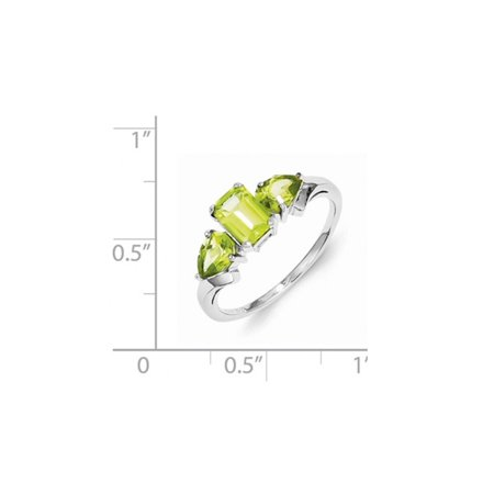 Natural Peridot Ring 0.95 Carat (ctw) in Sterling Silver - image 1 de 2