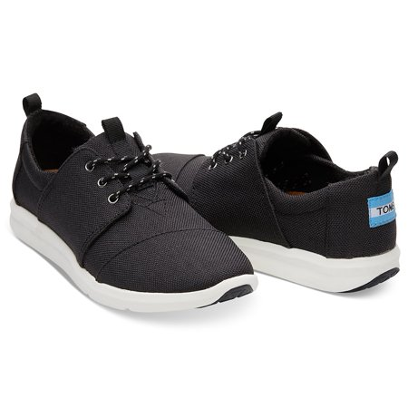 Toms Girls Shoes (Toms 10010848: Women's Del Rey Black Poly Canvas)