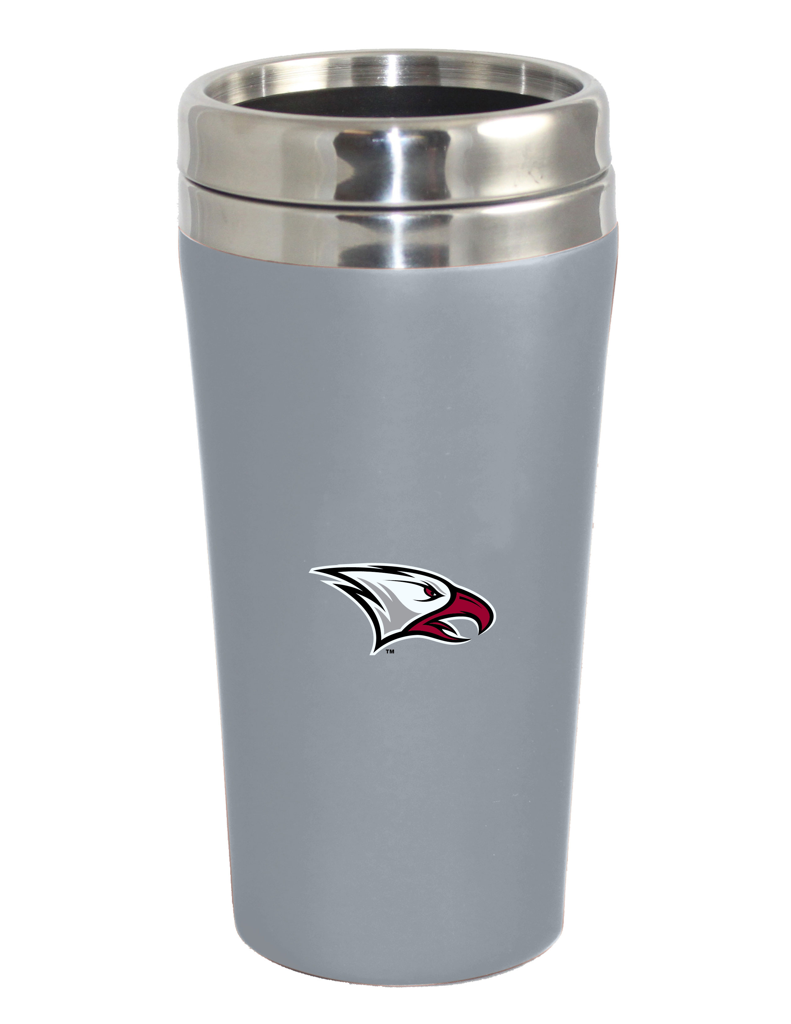 The Fanatic Group North Carolina Double Walled Soft Touch Tumbler Silver Design-1