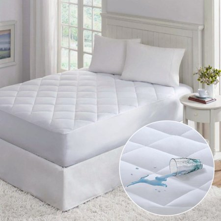Home Sweet Home Fabric Quilted Waterproof Mattress Pad