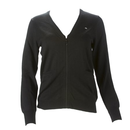 - J. LINDEBERG Women's Aileen Zippered Cardigan, Black