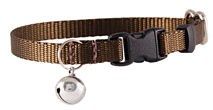 Country Brook Design Brown Nylon Cat Collar by Country Brook Design