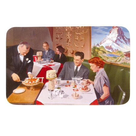 Couples at Fifties Restaurant Print Wall Art](Fifties Theme)