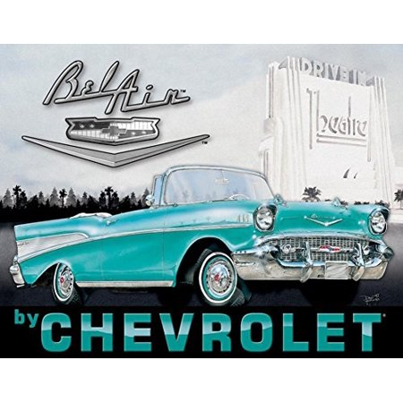 chevy - '57 bel air tin sign 16 x 13in