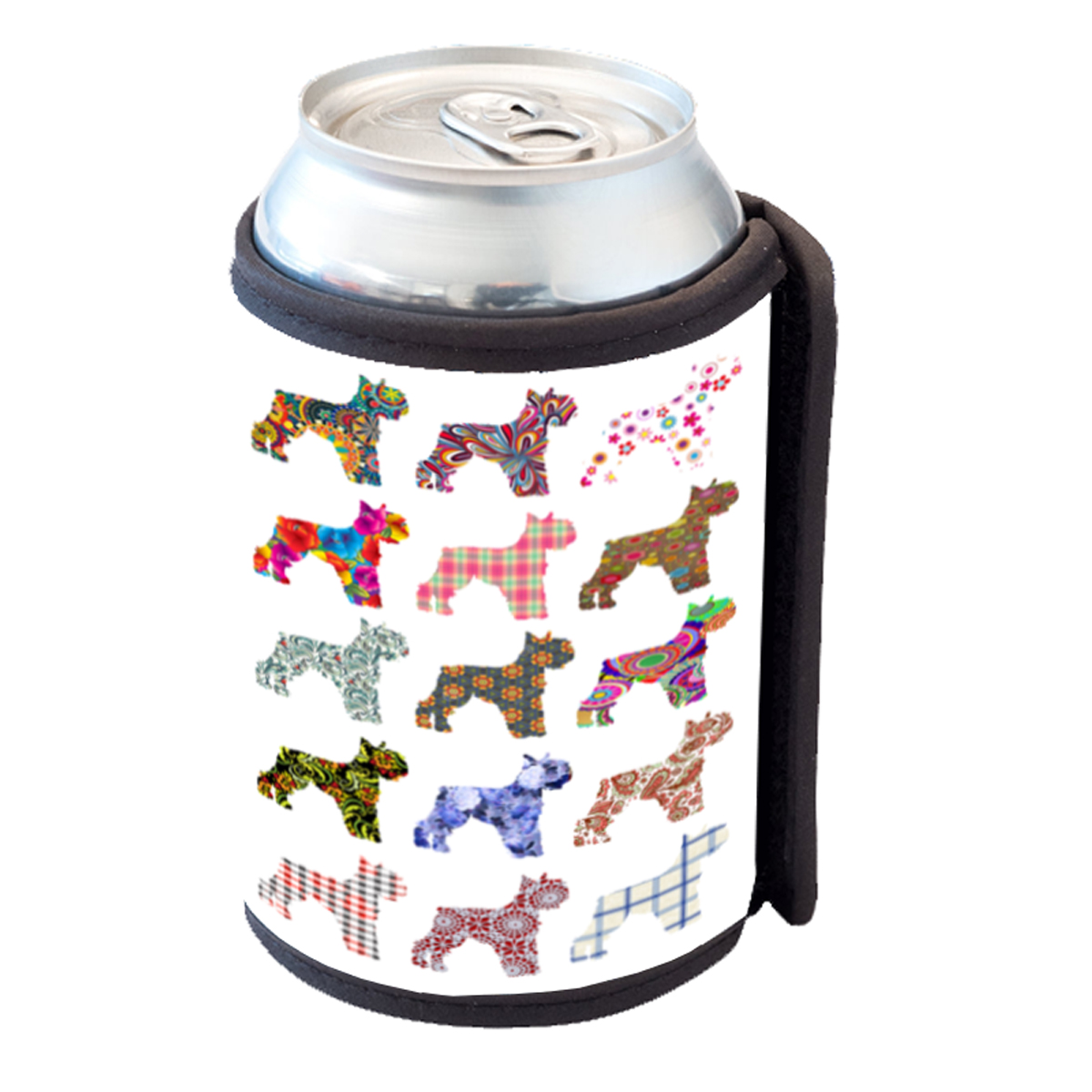 KuzmarK Insulated Drink Can Cooler Hugger - Schnauzer Dog