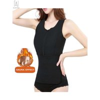 e2a6e241fc Product Image GustaveDesign Waist Trainer Corset Sauna Sweat Zipper Vest  With Adjustable Waist Trimmer Shapewear Slimming Control Tummy