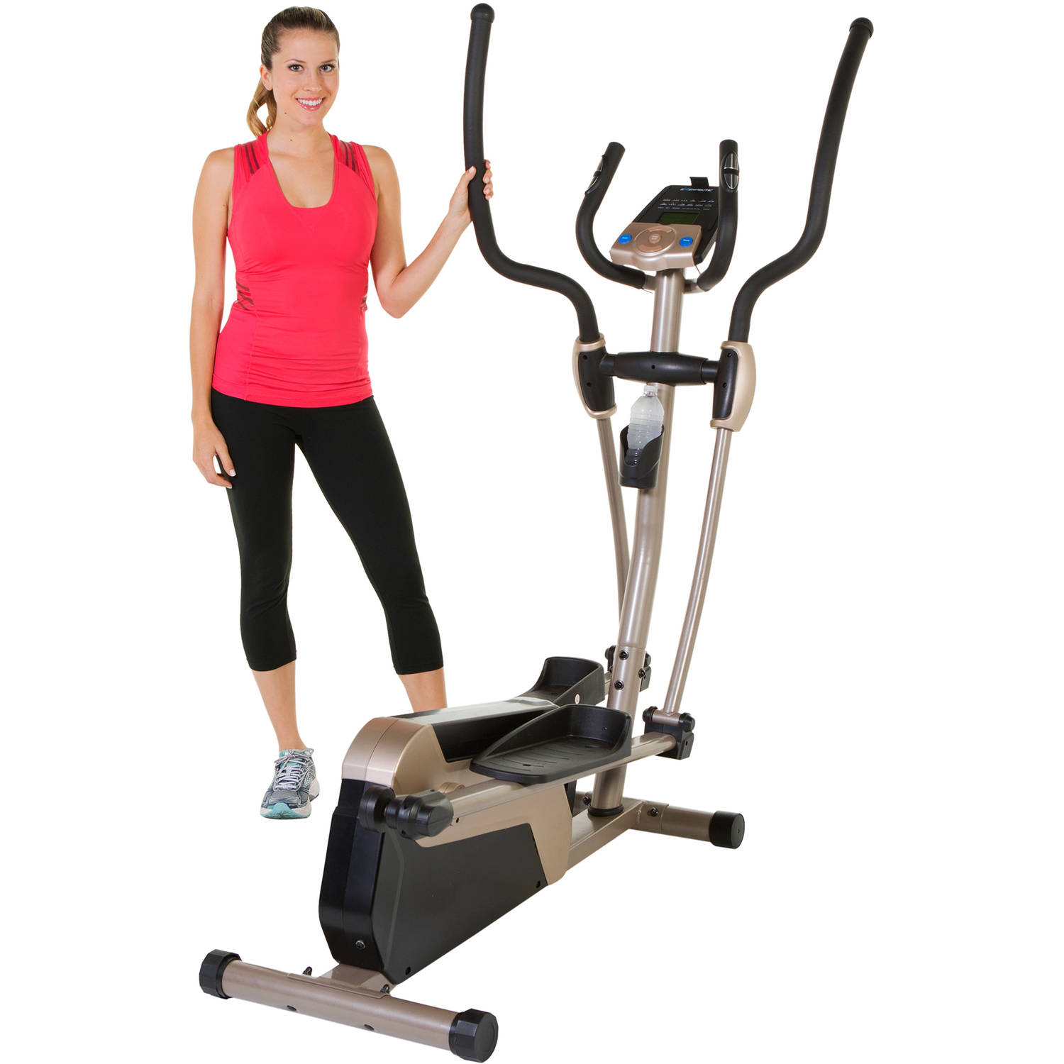 "Exerpeutic 5000 18"" Ultra-Stride Elliptical Trainer with Bluetooth App"