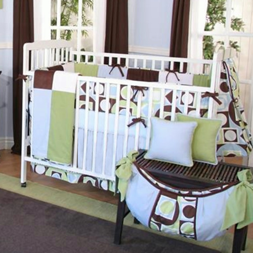 Brandee Danielle Modern Baby 4 Piece Crib Bedding Set