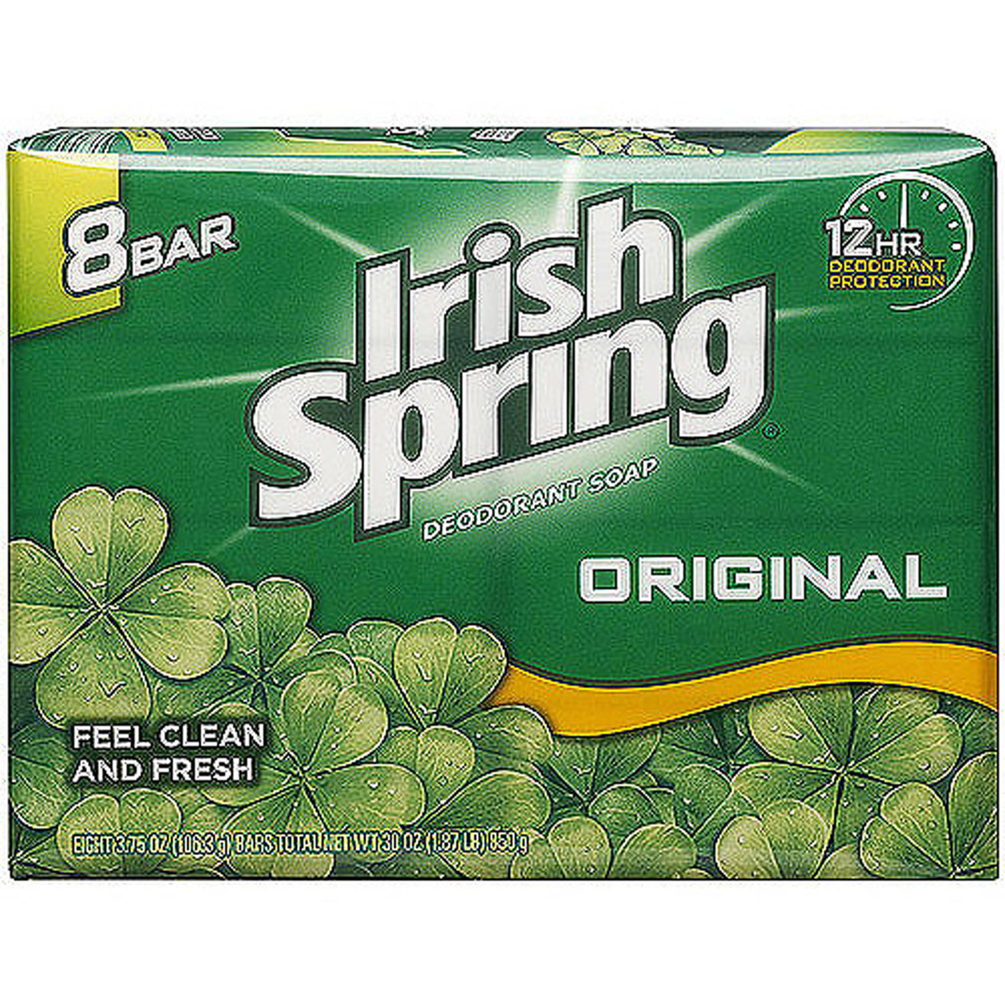 Irish Spring Deodorant Bar Soap, 3.75 oz, 8 ct