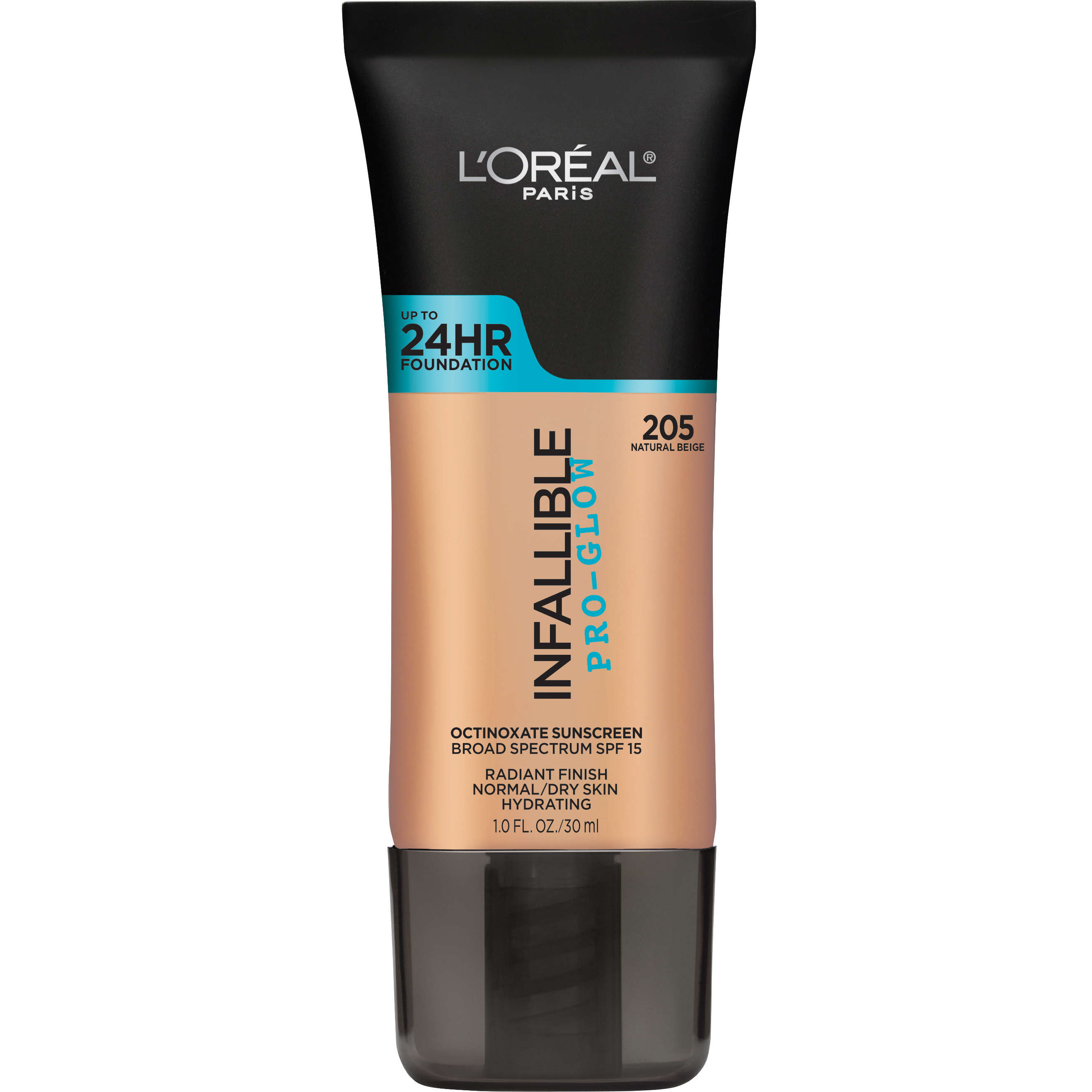 L'Oreal Paris Infallible Pro Glow Foundation, 205 Natural Beige, 1.0 oz - Walmart.com