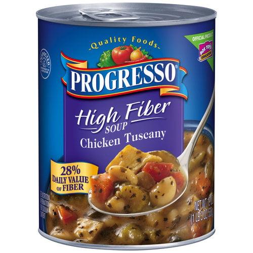 Progresso High Fiber Chicken Tuscany Soup, 19 oz