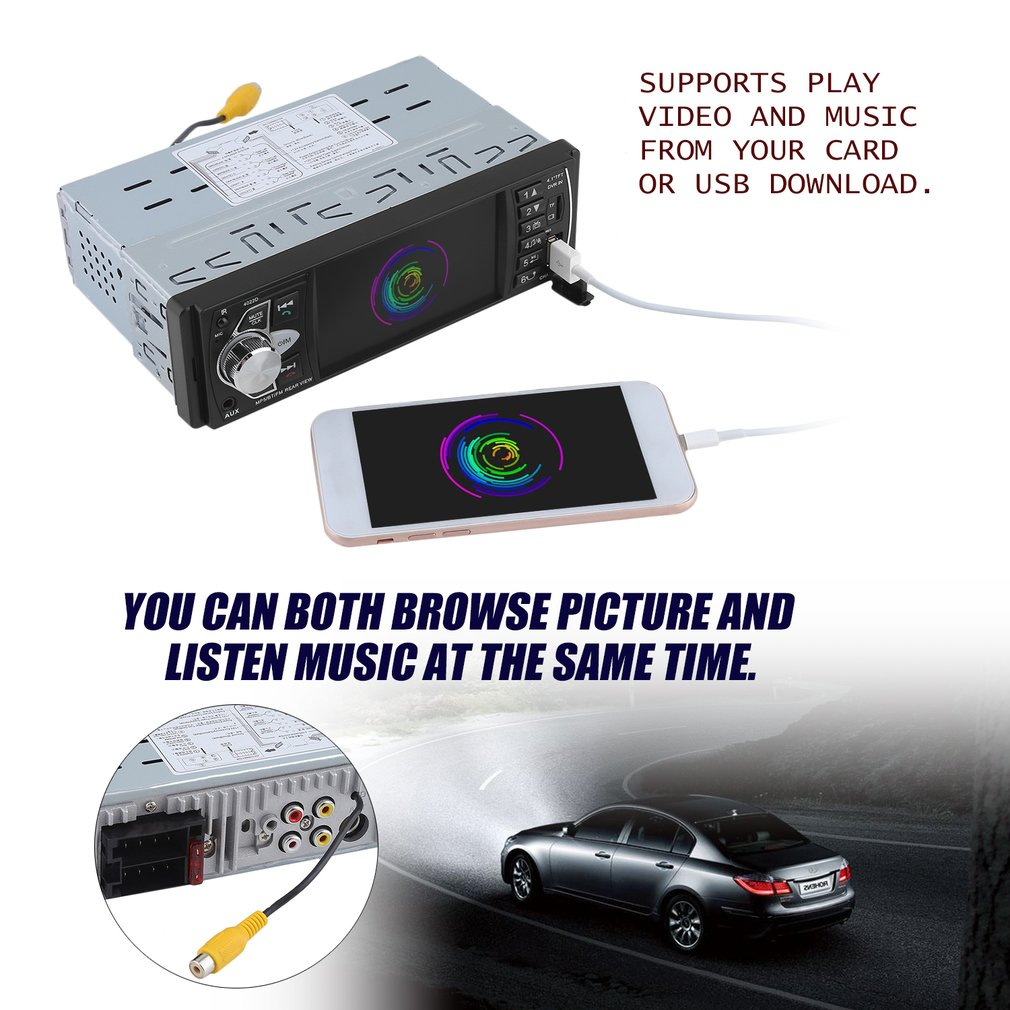 High-Definition Screen 4.1 Inch Car MP5 Player Entertainment Device DVD Player