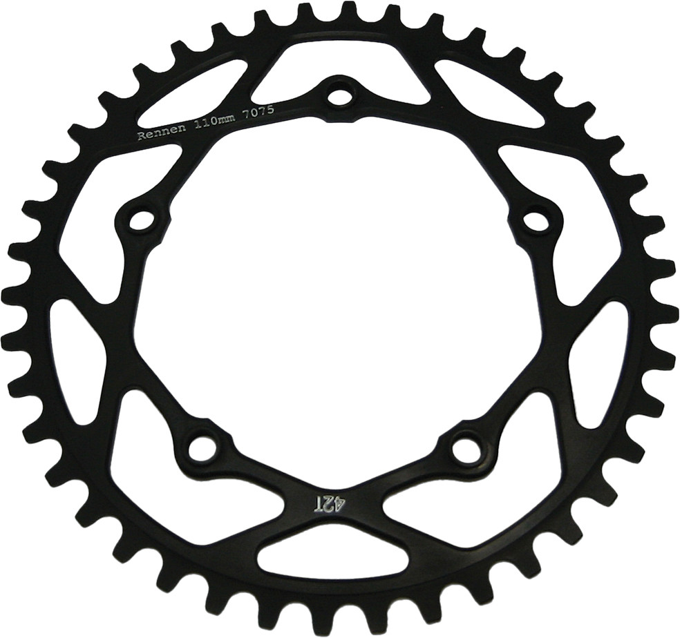 RENNEN 5-BOLT THREADED DECIMAL CHAINRING BLACK 42.7T
