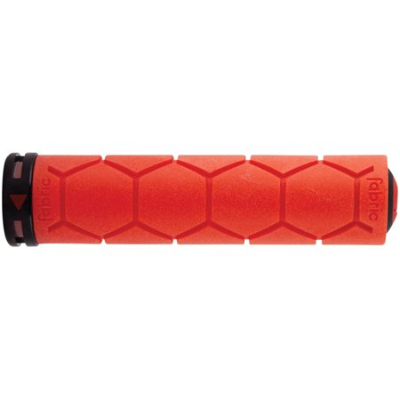 Fabric Silicone Lock On Grips: Red