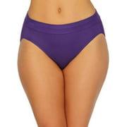 Bali Womens Incredibly Soft Hi-Cut Panty, 8, Purple Vista, 8, Purple Vista