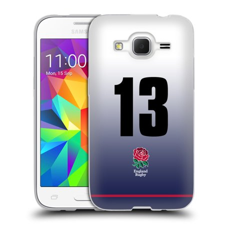 OFFICIAL ENGLAND RUGBY UNION 2017/18 HOME KIT SOFT GEL CASE FOR SAMSUNG PHONES 3 (Samsung Rugby Cell Phone Case)