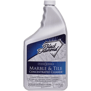 MARBLE & TILE FLOOR CLEANER. Great for Ceramic, Porcelain, Granite, Natural Stone, Vinyl and Brick. No-rinse Concentrate. Black Diamond Stoneworks