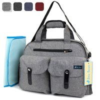JOIE BEAN Large Diaper Tote Bag, Multifunctional Messenger Bag with Changing Pad