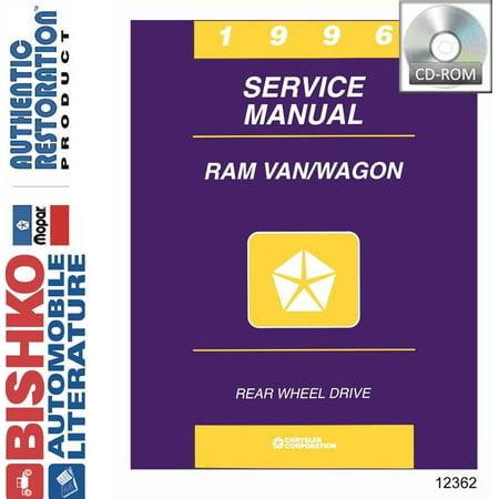 Dodge Van Manual - Bishko OEM Digital Repair Maintenance Shop Manual CD for Dodge Truck Van, Wagon 1996