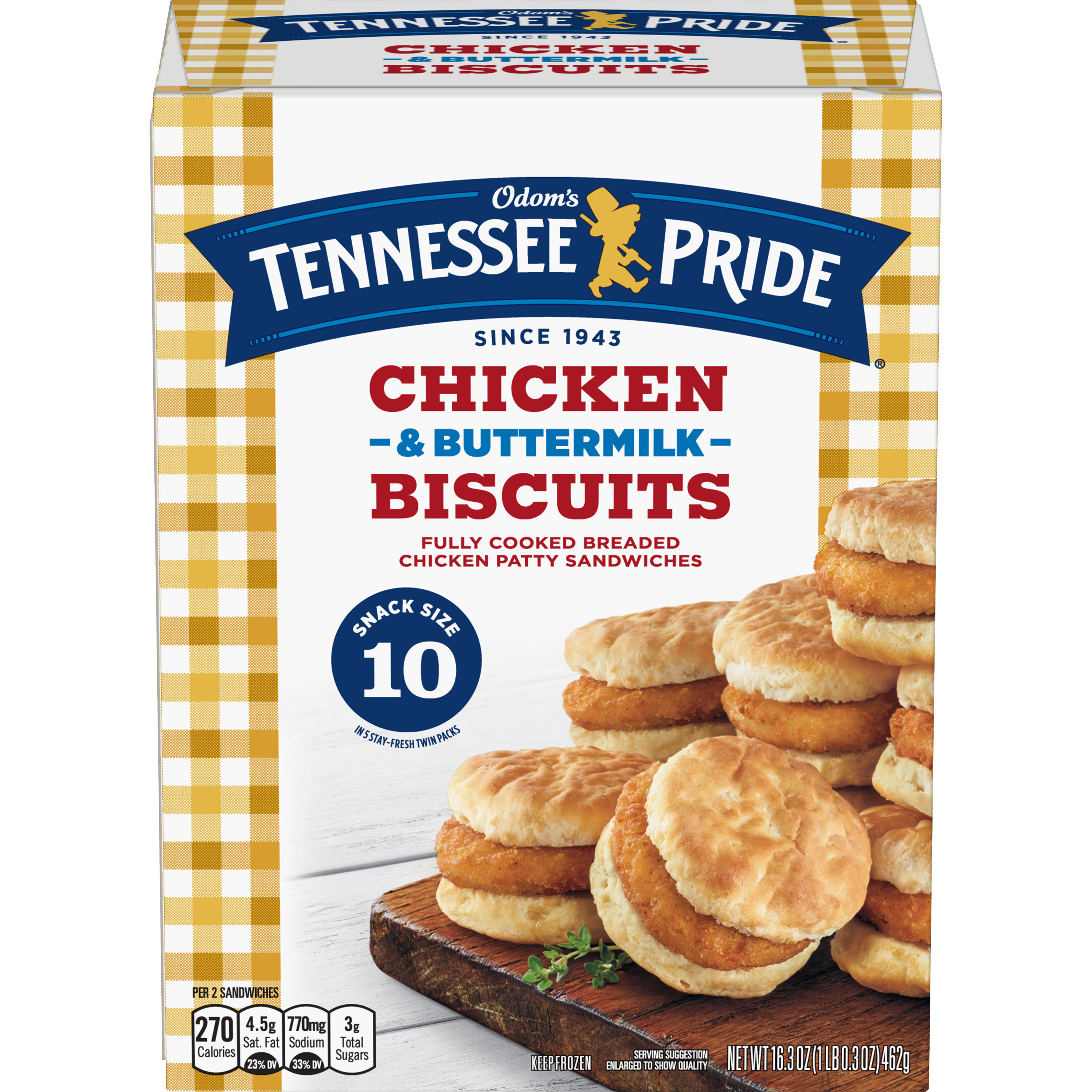 Odom's Tennessee Pride Chicken & Buttermilk Biscuits, 10 Count