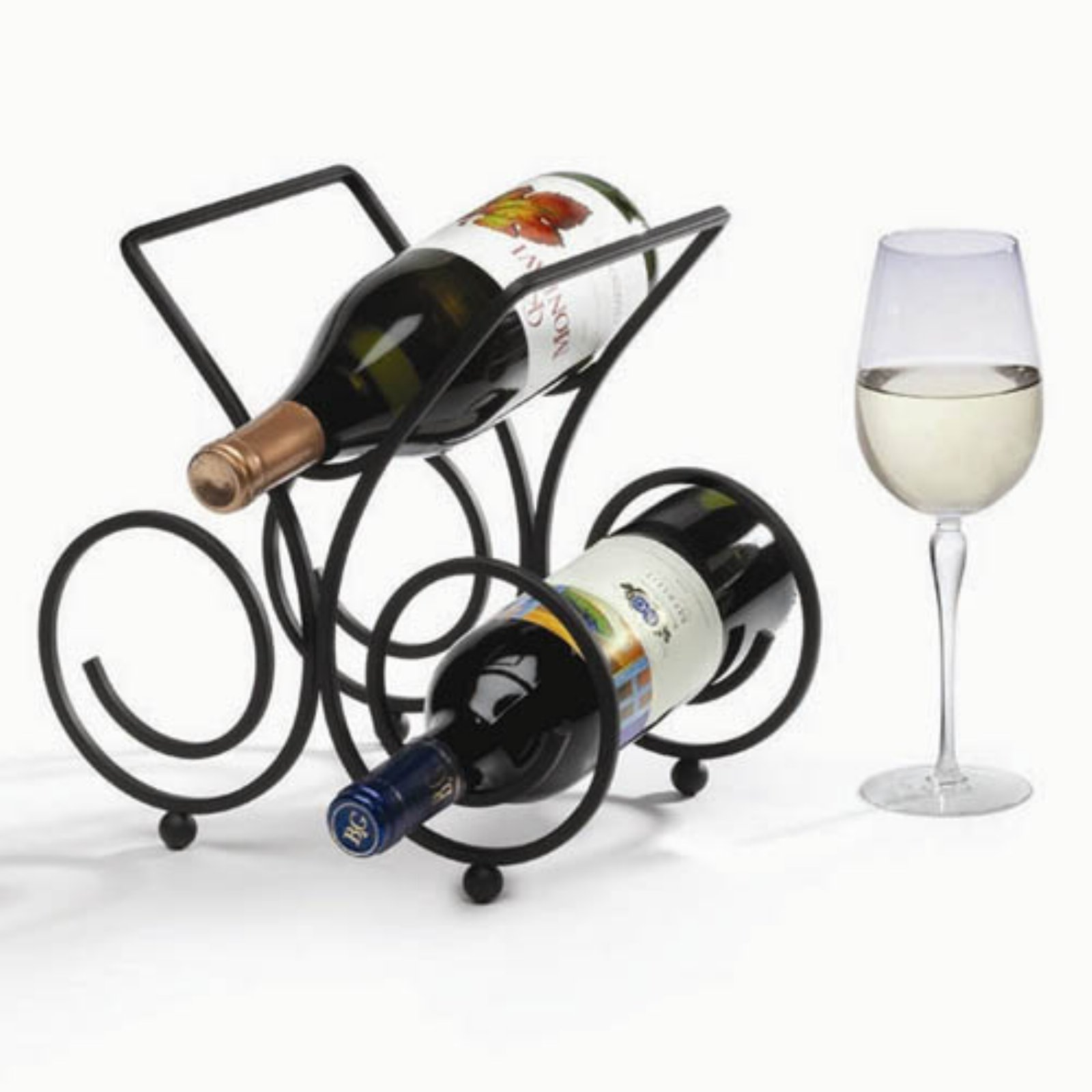 Click here to buy Bordeaux 5-Bottle Wine Rack Black by Spectrum Diversified Designs.