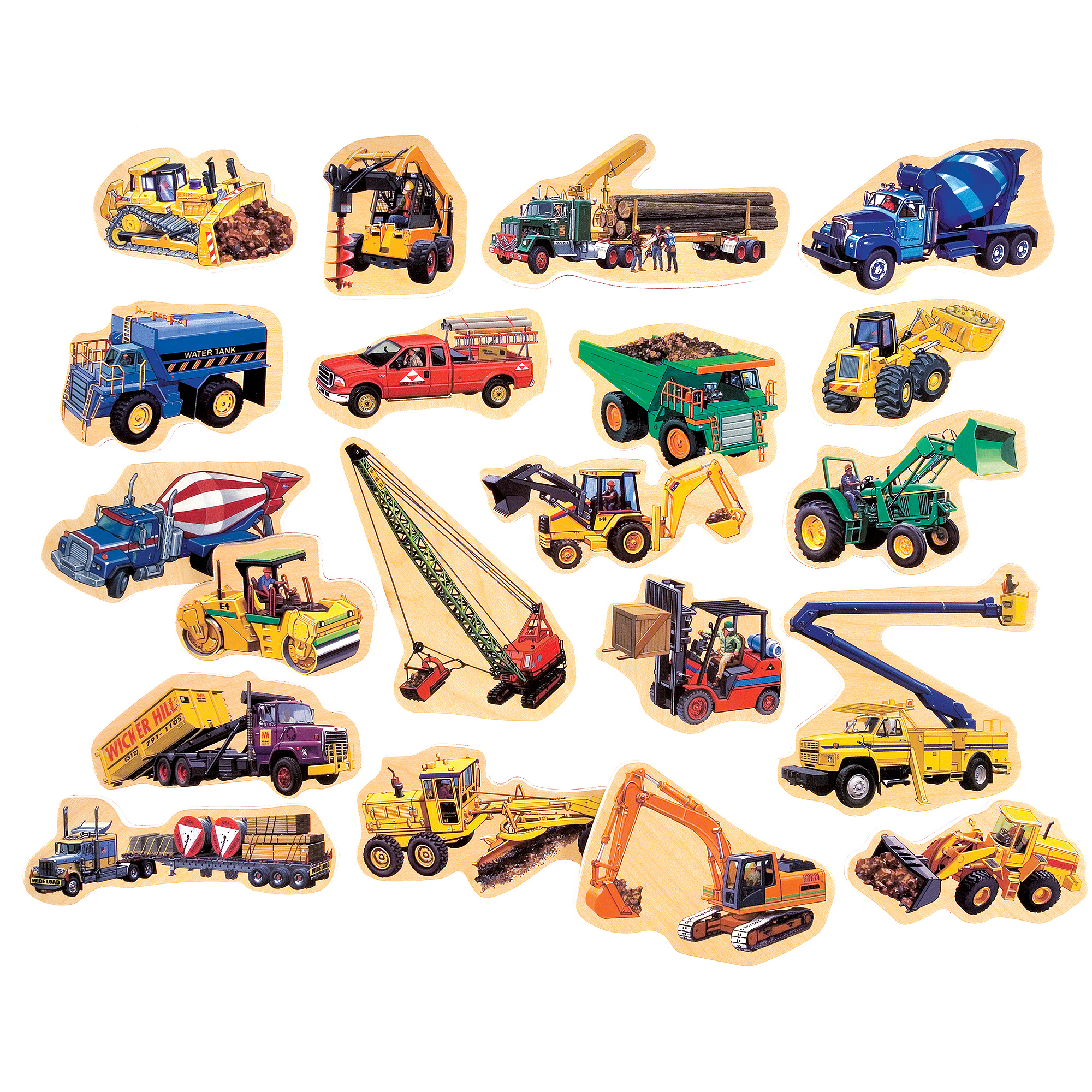 t s shure construction vehicles wooden magnets magnafun set 20 t s shure construction vehicles wooden magnets magnafun set 20 pieces walmart com