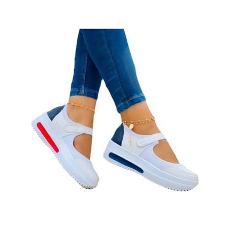 Gomelly Ladies Women Wedge Heel Loafers Walking Summer Comfort Casual Platform Shoes
