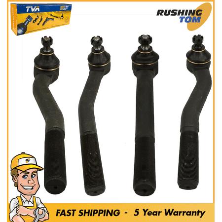 4 PC Steering Tie Rod Ends For 99-04 Grand Cherokee ES3472 ES3473 ES3474 ES3475