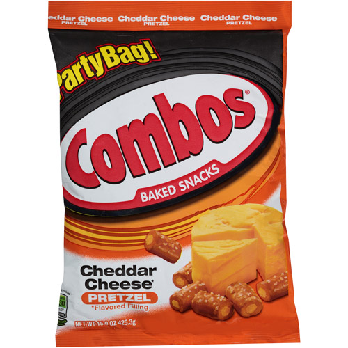 (2 Pack) Combos Cheddar Cheese Pretzel Baked Snacks, 15 oz