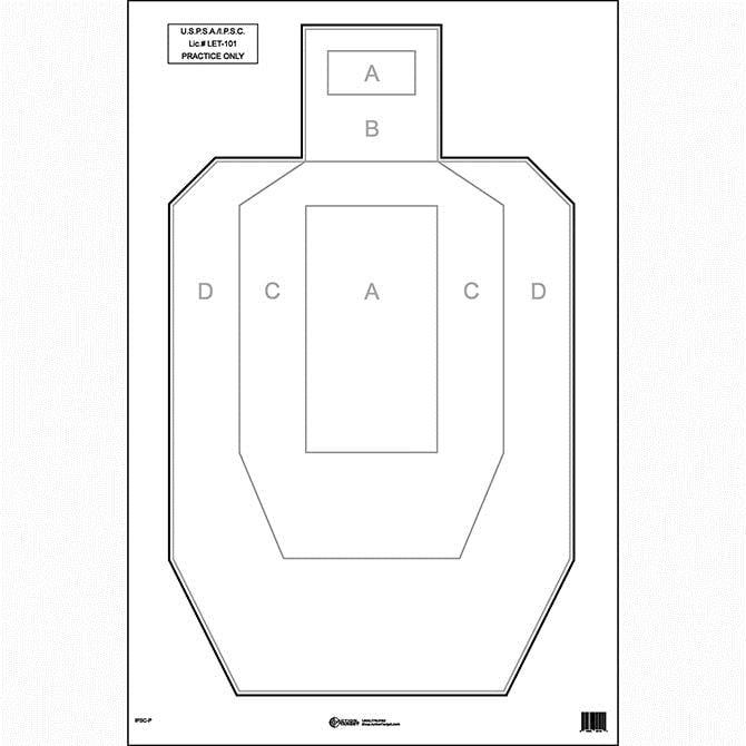 "50 Pcs of IPSC USPSA Paper Target Black & Gray. Size: 23"" x 35"" by"