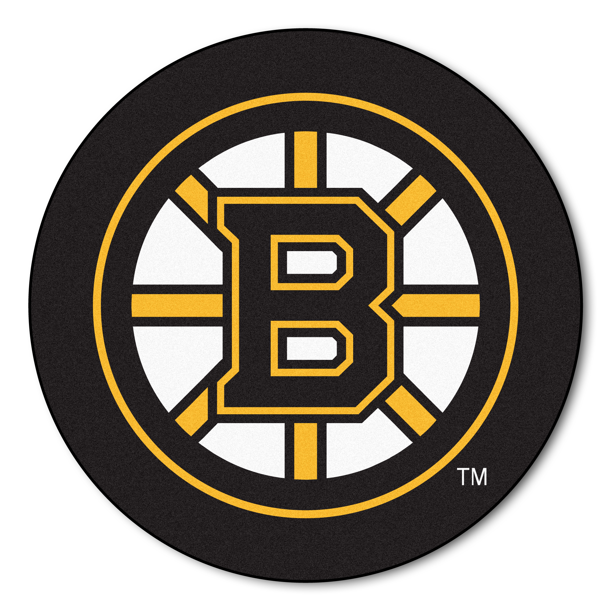 NHL Boston Bruins Puck Mat Round Area Rug