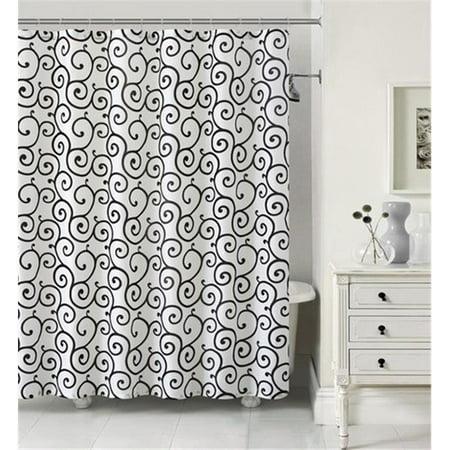 Luxury Home Maya Faux Silk Shower Curtain Set Ivory