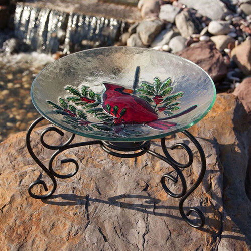 Evergreen Flag & Garden Table Top Stand Birdbath