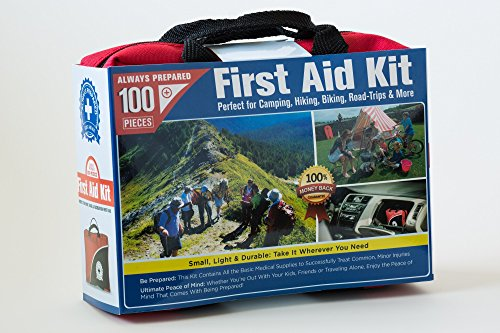 small first aid kit 100 piece car home survival