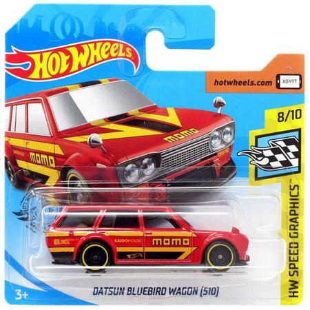 Hot Wheels HW Speed Graphics Datsun Bluebird Wagon (510) Diecast Car [Short Card]