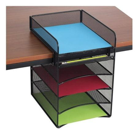 Scranton & Co Horizontal Hanging Desk Organizer in Black