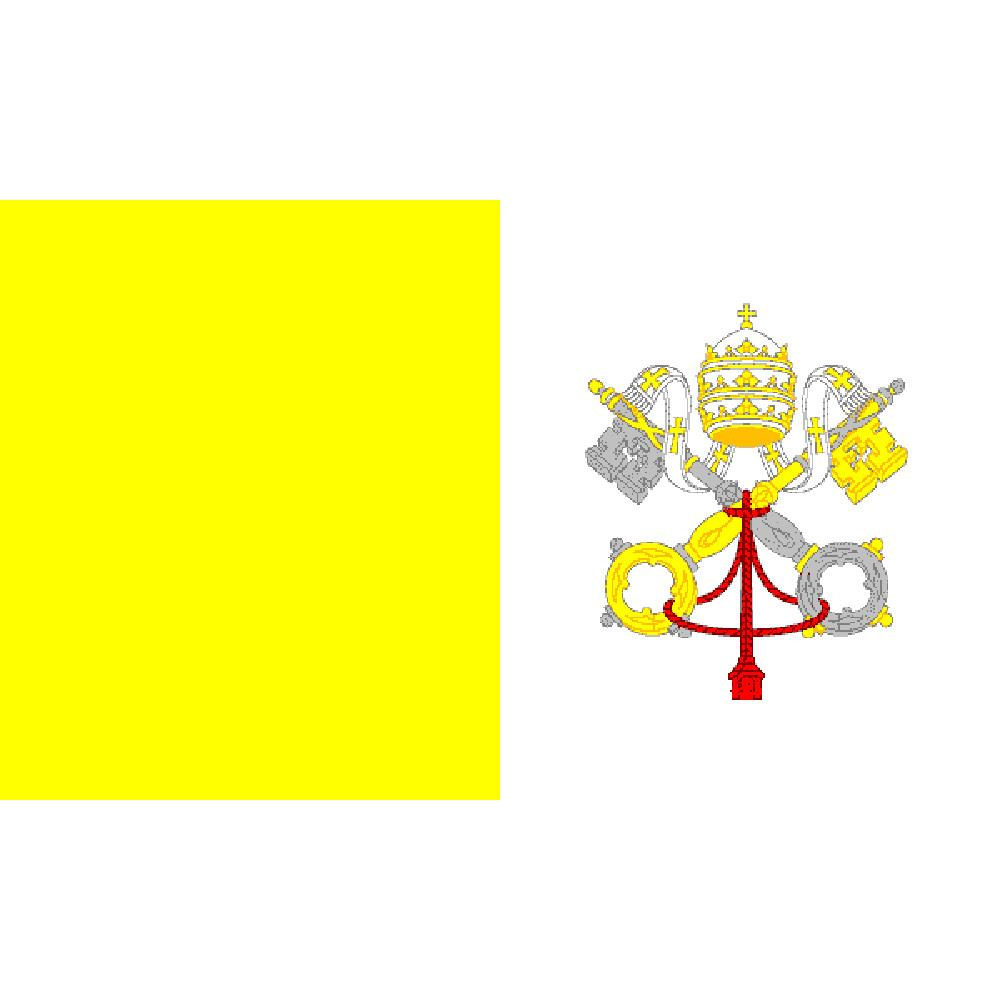 Vatican Flag with Grommets 3ft x 5ft
