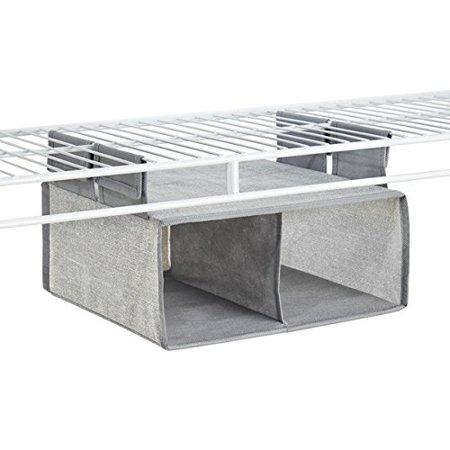 Strange Mdesign Fabric Hanging Closet Storage Organizer Shelf For Wire Shelving 2 Compartments Gray Download Free Architecture Designs Embacsunscenecom