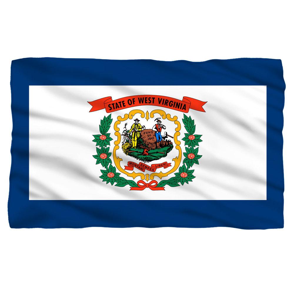 West Virginia Flag Fleece Blanket