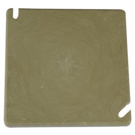 Allied Moulded Products 9344 PVC Flat Electrical Junction Box Blank Cover 4 Inch x 0.094 Inch x 4 Inch Beige/Tan (4 Inch To 3 Inch Pvc Reducer)