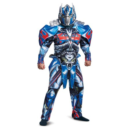 Transformer Costume Halloween (Transformers Optimus Prime Deluxe Men's Adult Halloween)