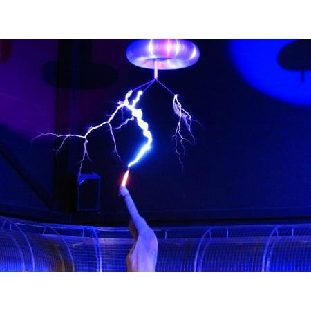 - Canvas Print Flash Experiment Tesla Coil High Voltage Stretched Canvas 10 x 14