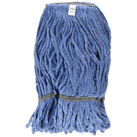 Head Loop End 4 Ply - Winco Yarn Mop Head, 24-Ounce, 4 Ply Loop End, Blue