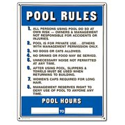 "Poolmaster ""Pool Rules"" Sign for Residential or Commercial Swimming Pools and Spas"