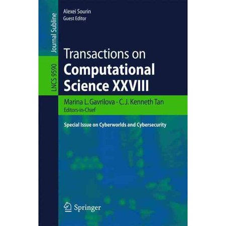 Transactions On Computational Science  Special Issue On Cyberworlds And Cybersecurity
