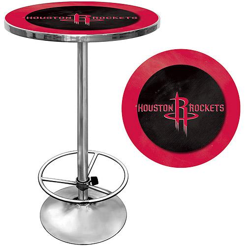 "Trademark NBA Houston Rockets 42"" Pub Table, Chrome"