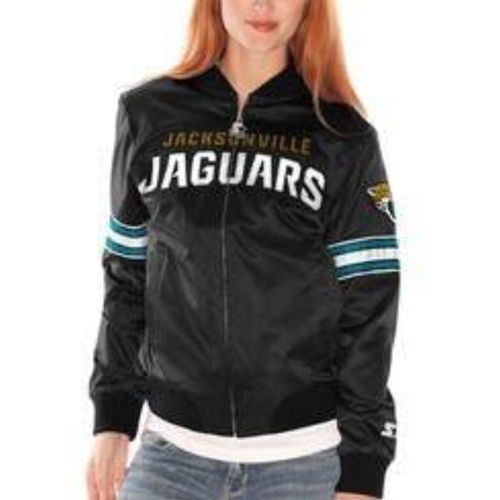 G-III Sports Jacksonville Jaguars Women's Black Starter Blitz Satin Jacket - Medium