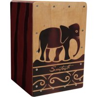 Sawtooth Harmony Series Hand-Stained Elephant Design Travel Size Cajon
