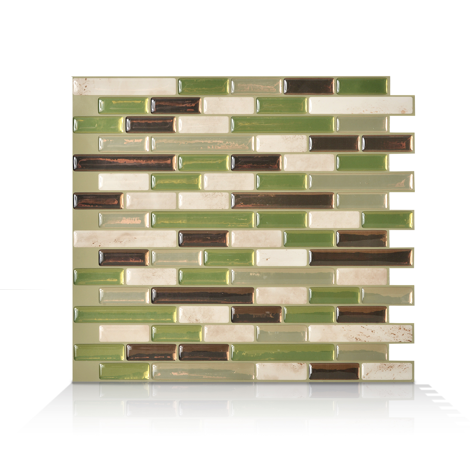 Smart Tiles 10.20 in x 9.10 in Peel and Stick Self-Adhesive Mosaic Backsplash Wall Tile - Muretto Eco (each)