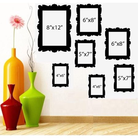 Decal ~ FAMILY TREE PICTURE FRAMES ~ WALL DECAL (1) 8\